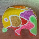 I enjoyed doing this elephant it was very different to painting but not being able to get back w