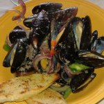 Loads of mussels in luscious broth