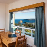 Studio kitchenette with ocean view