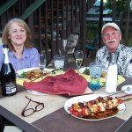 Anniversary dinner for two on the back deck
