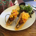 Catch of the day fish tacos with mango salsa, 2 for $19