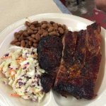 A BBQ Pork Rib Plate