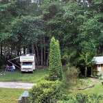 Full-service RV sites and self-contained cabins available.