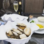 Clam Appetizer & Prosecco Very Tasty!!