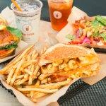 Original Burger, Mac Daddy and Cobb Salad
