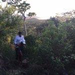 Trekking up the hill next to Wild Grass