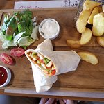 Chicken fajita wrap.