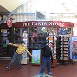 My sons at The Candy Store