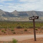 turn-off to dry fork trailheads