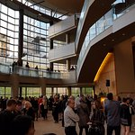 Evening at the symphony in Benaroya Hall.