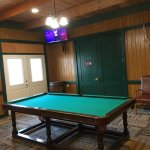 Putt-putt course, gas grills and billiards room