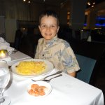 They made gluten-free pasta just for Charlie; made his night!