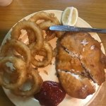 Friend fish and onion rings