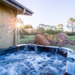 Soak your cares away in your private heated outdoor spa