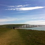 Path from Seaford Head, view of Seven Sisters