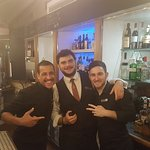 Pendulum hotel garden bar with excellent bartenders Fabio and Johnny, and Rodrigo from reception