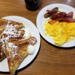 French Toast Slam, eggs scrambled with cheese