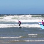 Surfing lessons right outside your door with excellent instructors.