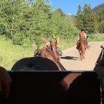 Following in the lead wagon