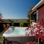 Outdoor hot tub at Awatea Tasman Bay's Boutique B&B