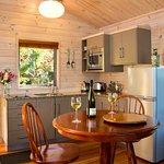 Luxury Cottage Dining & Kitchen at Awatea Tasman Bay