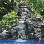 Waterfall in pool