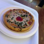 The non-veg quiche: very nice