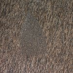 One of the iron burns in the carpet