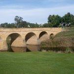 The bridge is set in a beautiful spot