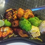 Chicken and fish mixed grill