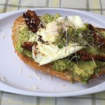 Avocado Toast with Fried Egg &Bacon