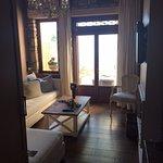 Living room in suite