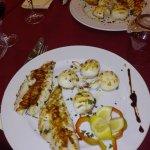 Grilled sea food