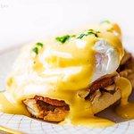Eggs benedict, on our light bite menu