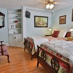 Twin beds on first floor for friends