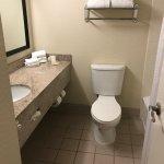 Ample bathroom