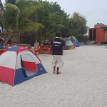 These are the tents on Goff's Caye