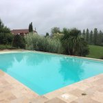 Large swimming pool overlooking the Pyrenees