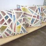 Handpainted cushions 60x50cm.