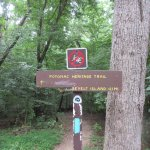 Here is the sign of the trail at Fort Marcy