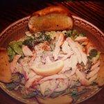 Chicken Ceasar Salad with Garlic bread