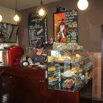 Cappuccino cafe counter