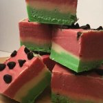 Watermelon fudge!  A perfect summer treat!