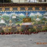 Mural in hotel courtyard