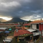 Volcan Arenal panoramic view from our balcony
