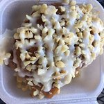 Cinnamon Roll with Cream Cheese Frosting and Mac Nuts