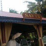 Great swordfish at Savvy beach bar