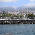 View of Funchal from the boat.
