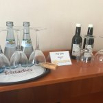 Our complimentary bottled water and wine
