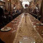 Longest dining table in world (supposedly) - seats 101 people (don't ask why not 102)